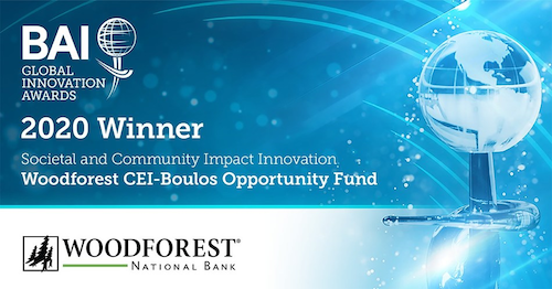 Woodforest National Bank Wins Global Innovation Award for Societal and Community Impact